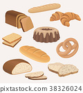 vector croissant pastry 38326024
