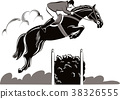 Horse and rider during a jumping competition 38326555