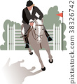Horse and rider during a jumping competition 38326742