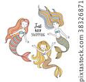 mermaid, vector, sea 38326871