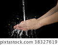 wash hand cleaning dirt and bacteria 38327619