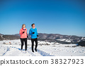 winter, couple, nature 38327923