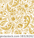 Traditional paisley seamless pattern 38328262