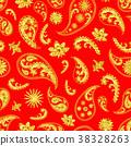 Traditional paisley seamless pattern 38328263