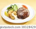 แฮมเบอร์เกอร์,อาหารฝรั่ง,กุ้งทอด 38328429