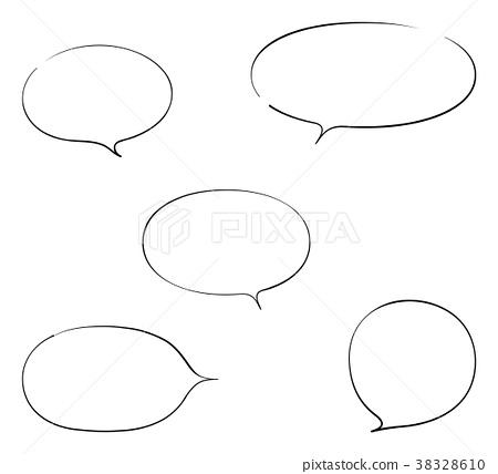 Round speech bubble 38328610