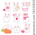 Collection of cute rabbits 38330820