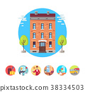 Hotel Services Icons Vector Illustration 38334503