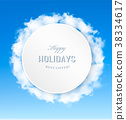 Abstract holiday background with blue sky  38334617