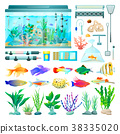 aquarium, fish, vector 38335020