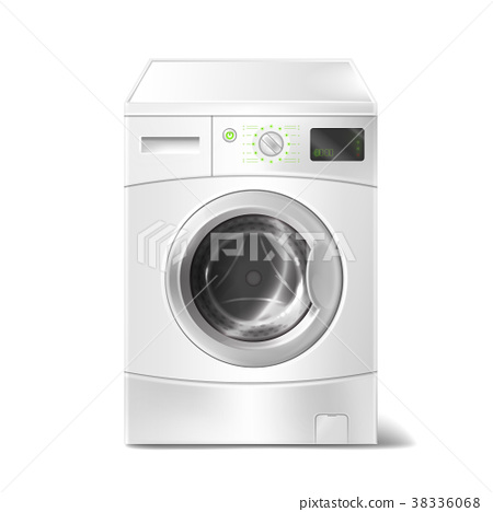 Vector realistic washing machine with smart 38336068