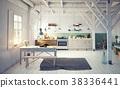kitchen, interior, room 38336441