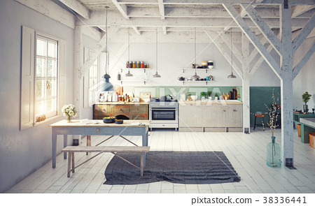 style kitchen interior. 38336441