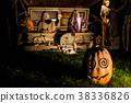 Halloween decorations outside at night 38336826
