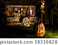Halloween decorations outside at night 38336828