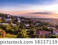 Kingston city hills in Jamaica sunset 38337139