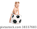 kid with a big ball, soccer fan 38337683