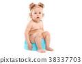 little girl on the pot 38337703