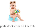 girl with toys on the pot 38337716