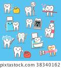 Healthy Teeth care treatment and hygiene. Cartoon 38340162