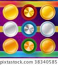 Medals Ribbon Guilloche 38340585