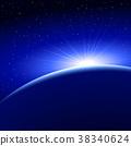 sun, dawn, space 38340624
