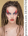 Close-Up Fashion female Model with colorful 38340769