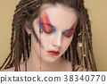 Close-Up Fashion female Model with colorful 38340770