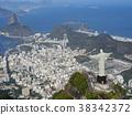 Rio de Janeiro, statue of Christ in Corcovado, aerial view 38342372