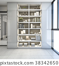 modern shelf design in near corridor and window 38342650