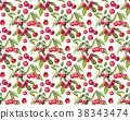 berries guarana seamless pattern background. 38343474