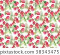 berries guarana seamless pattern background. 38343475