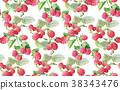 berries guarana seamless pattern background. 38343476
