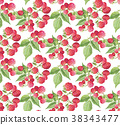 berries guarana seamless pattern background. 38343477