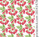 berries guarana seamless pattern background. 38343478