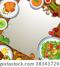Background template with food on the table 38343720