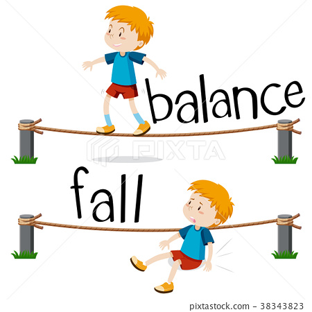 Opposite words for balance and fall 38343823