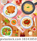 Background design with different types of food 38343850
