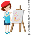 Artist painting on canvas 38343869
