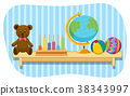 bear, teddy, globe 38343997