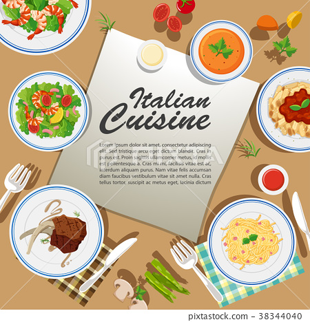 Poster design with various food 38344040