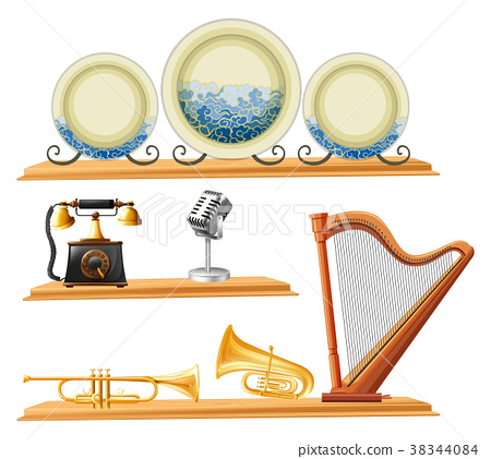 Vintage items and musical instruments  38344084
