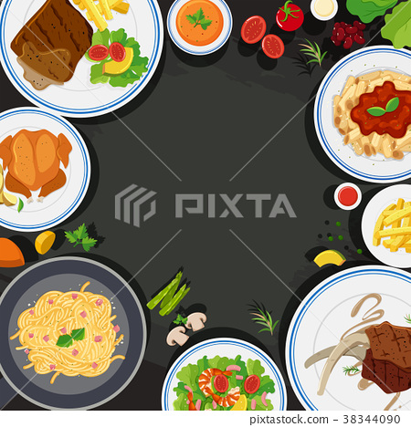 Background template with health food 38344090