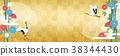 感覺日本紙紋理的插圖 38344430