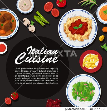 Italian cuisine poster 38344495