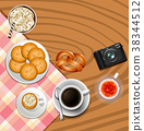 Background design with crackers and drinks 38344512