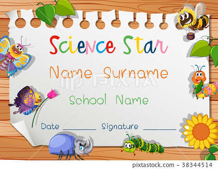 Certificate template for science star 38344514