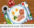 Eggs and bacon 38344530