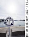 구명 튜브와 나가사키 항 38344841