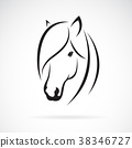 Vector of horse head design on white background. 38346727